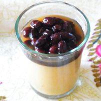 豆乳のブランマンジェ・黒豆ソース
