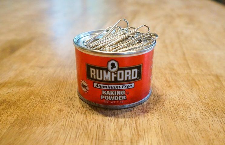 ベーキングパウダーの缶分解!