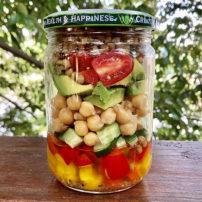 ひよこ豆とレンズ豆のサラダ<br>Chickpea & lentils salad