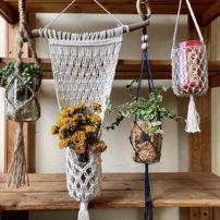 ピーナッツバターで空き瓶クラフト-Peanut Butter Jar craft<br>〜マクラメハンギング-macrame hangings〜